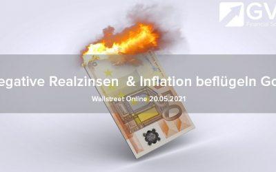 Negative Realzinsen und Inflation beflügeln Gold